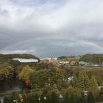 納骨式のあとに、きれいな虹が出ました。