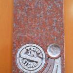 インド産「ニューインペリアルレッド」のお墓(展示品)