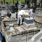 宮城県名取市:お墓の解体工事