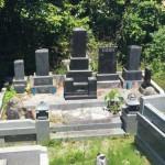 改葬の為の墓じまい:福島県新地町・共同墓地 T家様 墓石解体工事