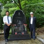 奥様との思い出が詰まった素敵な自然石風の墓碑が完成!!:山形県鶴岡市の寺院墓地