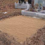 東京への改葬のため、お墓の解体・処分工事が完了いたしました。宮城郡松島町の寺院墓地にて