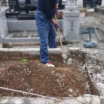 宮城県遠田郡美里町のお寺様墓地にて、お墓じまいをさせていただきました。仙台市にお住まいのお客様、納骨堂へのお引越し