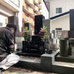 仙台市内寺院様墓地にて、お墓のお掃除・お参りの代行をさせていただきました。関東にお住まいのお客様