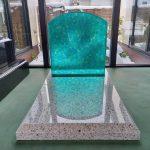 ガラス墓(光り墓)の展示品あります